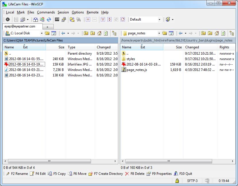 WinSCP Documentation   Live Streaming manual V7